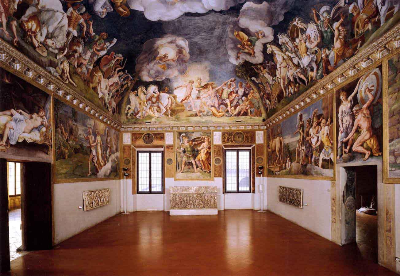 View of the sala di troia 1 for Sala degli sposi